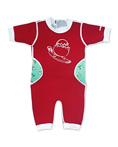 Cheekaaboo Warmiebabes Suit - Red/Toucan - L (18-30M)