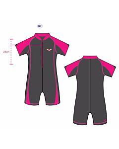 Arena: UV Sun Suit (28J- 7-8yrs) - Pink