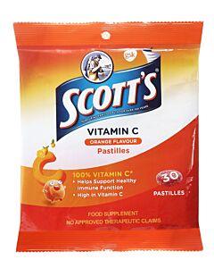 Scott's Vitamin C 30 Pastilles - Orange Flavour