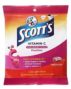 Scott's Vitamin C 30 Pastilles - Mixed Berries Flavour