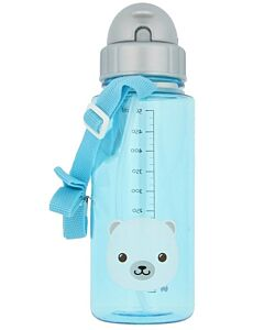 Snapkis: Straw Water Bottle 500ml | Polar Bear - 30% OFF!!