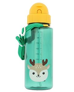 Snapkis: Straw Water Bottle 500ml | Reindeer - 30% OFF!!