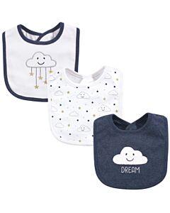 Hudson Baby Drooler Terry Bibs (3 pcs) (Blue cloud) 56028 - 20% OFF!!