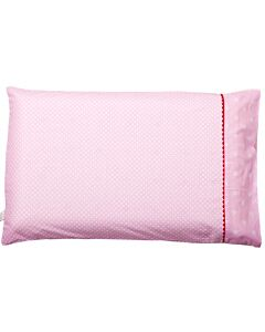Clevamama ClevaFoam Toddler Pillow Replacement Cover (53cm x 33cm) Pink - 20% OFF!