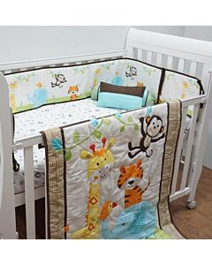 Happy Cot: Bedding Set - Animal Parade - 10% OFF!!