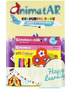 AnimatAR Augmented Reality Colouring Book 'Airline' - 36% OFF!!