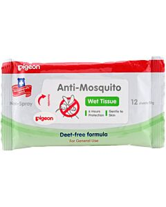Pigeon Anti-Mosquito Wet Tissues 12's
