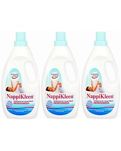 NappiKleen Antibacterial Liquid Wash (2.4 Litre x 3 bottles) - 14% OFF!!