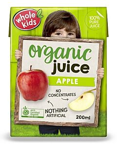 Whole Kids: Organic Apple Juice 200ml (From 3+ Years Old) - 10% OFF!!