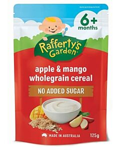 Rafferty's Garden: Apple & Mango Wholegrain Cereal 125g (6+ Months) - 21% OFF!!