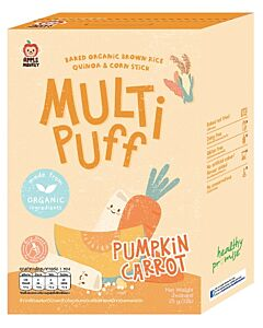 Apple Monkey Organic Multi Puff - Pumpkin Carrot 25g - 15% OFF!!