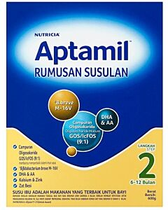 Aptamil Step 2 Formulated Milk Powder for Children (6-12 mths) 600g