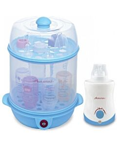 Autumnz - 2 in 1 Steriliser & Food Steamer + Home & Car Warmer Combo (Blue) + FREE! Descaler (cleaner)