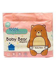 BB Diapers - Baby Bear Diapers NB30 (NB - 5kg)