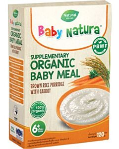 Baby Natura: Organic Brown Rice Porridge with Carrot