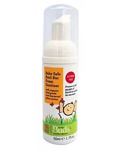 Buds Everyday Organics Baby Safe Anti-Bac Foam Sanitiser 50ml - 15% OFF!!
