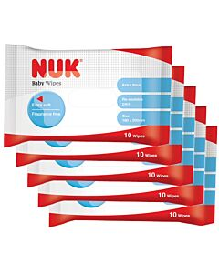 NUK - Baby Wipes *PARABEN FREE* 10pcs x 5packs - 13% OFF!!