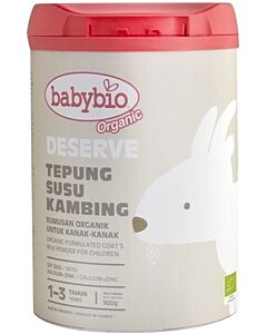 Babybio Deserve Formulated Goat's Milk for Children, 1 - 3 years, (900g)