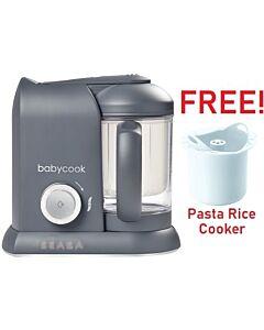 Beaba: Babycook Solo - Dark Grey (Limited Edition) + FOC Pasta Rice Cooker