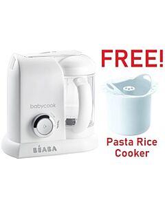 Beaba: Babycook® Solo - White Silver + FOC Pasta Rice Cooker