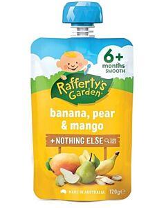 Rafferty's Garden: Banana, Pear & Mango 120g (6+ Months) - 23% OFF!!