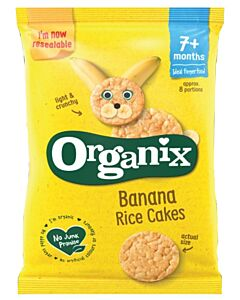 Organix Finger Foods Banana Rice Cakes 50g (7+ Months)