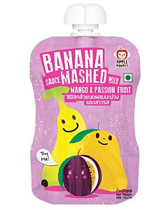 Apple Monkey: Banana Sauce Mashed with Mango & Passion Fruit 100g - 11% OFF!!