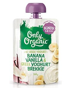 Only Organic: Banana, Vanilla & Greek Yoghurt Brekkie 100g (1-5 Years) - 10% OFF!!