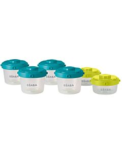 Beaba: Clip Portions Containers - Set of 6 (120ml/60ml) - 20% OFF!