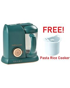 Beaba: Babycook Solo - Pine Green (Limited Edition) + FOC Pasta Rice Cooker - 36% OFF!!