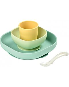 Beaba: Silicone Meal Set (Yellow) (4+ Months) - 20% OFF!!