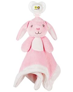 Nookums Paci-Plushies Bella Bunny Blankies™ Pacifier Holder (Plush Toy Includes Detachable Pacifier, Use with Multiple Brand Name Pacifiers) - 18% OFF!!