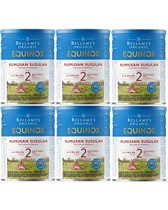 Bellamy's Organic Follow-On Formula (Step 2) EQUINOX 900g X 6 TINS (Special combo deal) - 20% OFF!!