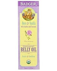 Badger: Organic Pregnant Belly Oil (Rose & Vanilla) 118ml - 10% OFF!