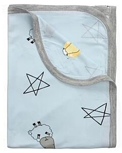 Baa Baa Sheepz: Single Layer Blanket Big Star & Sheepz (Blue) - 10% OFF!!