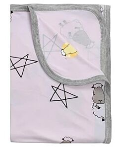 Baa Baa Sheepz: Single Layer Blanket Big Star & Sheepz (Pink) - 10% OFF!!