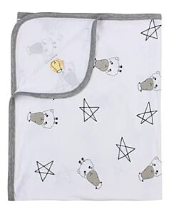 Baa Baa Sheepz: Single Layer Blanket Big Star & Sheepz (White) - 10% OFF!!