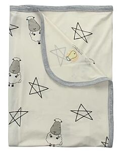 Baa Baa Sheepz: Single Layer Blanket Big Star & Sheepz (Yellow) - 10% OFF!!