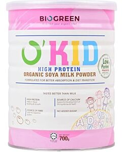 BIOGREEN O'Kid High Protein Organic Soya Milk (HALAL) 700g - 16% OFF!!