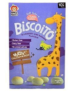 Apple Monkey: Biscoito Blueberry and Banana Flavour 40g - 10% OFF!!