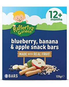 Rafferty's Garden: Blueberry, Banana & Apple Snack Bar [8 Bars] 128g (12+ Months) - 16% OFF!!
