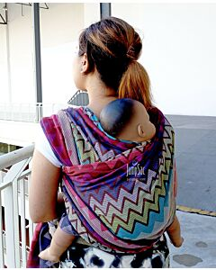 JumpSac - Bombora Waves in Pale Pink (Ring Sling) - M