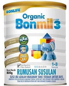 Bonlife Organic Bonmil Step 3 (1-3 years) 800g - 8% OFF!!