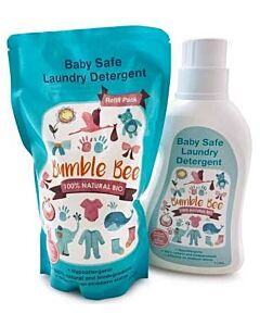 Bumble Bee: Baby Safe Laundry Detergent Bottle 1 Litre + Refill Pack 900ml - 25% OFF!