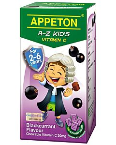 Appeton A-Z Vitamin-C (Blackcurrant) Tablets 100's (For 2-6 years old) - 25% OFF!!