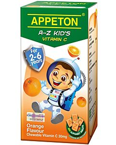 Appeton A-Z Vitamin-C (Orange) Tablets 100's (For 2-6 years old) - 12% OFF!!