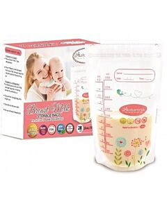 Autumnz: Double Zip Lock Breastmilk Storage Bag (28 bags) 12oz/350ml