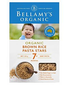 Bellamy's Organic Brown Rice Pasta Stars 200g - 10% OFF!!