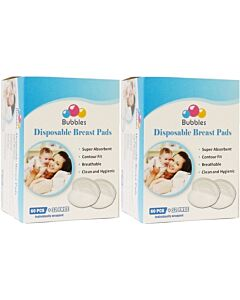 Bubbles: Disposable Breast Pads (Honeycomb NEW) (60pcs + FREE 12pcs) x 2 PACKS - 33% OFF!!