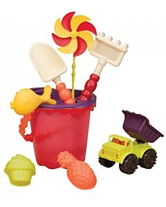 B. Toys: Sands Ahoy! Medium Bucket Sets (Purple/Red) - 15% OFF!!